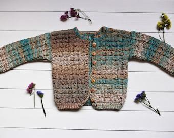 Unisex baby sweater Blue baby sweater Girl's baby sweater Boy's baby sweater Kid's sweater wool baby sweater Baby sweater knit Baby sweater