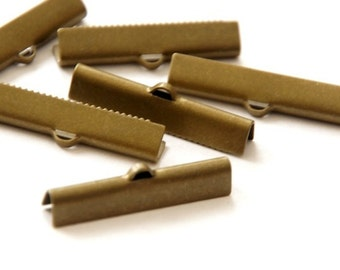 10 pcs. Tape Clamps 30 x 6 mm/Bronze