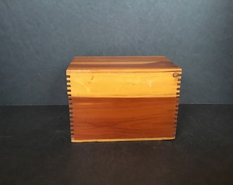 Small Pine Dovetailed Box