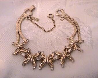Vintage VOLUPTÉ Rhinestone Bracelet