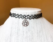 Black Tattoo Chokers Neck...