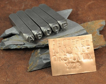 Metal Stamps - Alphabet Set - 6mm - Gothic Uppercase Font - Includes a Great Labeled Storage Case