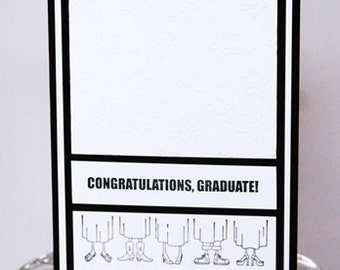 Congratulations Graduate Happy Graduation Card, Congrats to the Grad Hand Made Card, Happy For You Graduation Note Card, You Did It Graduate