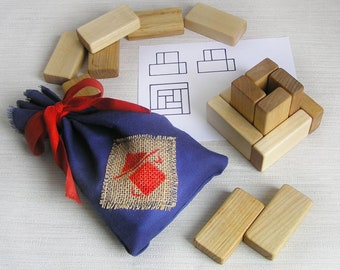 """Wooden game """"Bricks"""", Montessori play, Educational Toy, Wooden Toy, Learning Toy Educational Game, Natural Wood, gift for a child, Kids gift"""