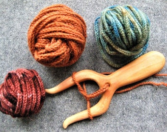 Woolen cord, Hand knited and dyed, Lucet cord, Pure wool, Plant dyes, For Viking or Slavs, Reenactment, Authentic
