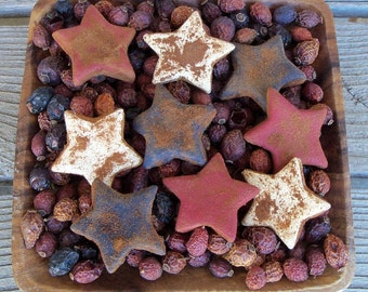 Rustic Americana Saltdough Stars, Independence Day Decor, 4th of July Decoration, Country Americana, Bowl Filler, July 4th, Red White Blue