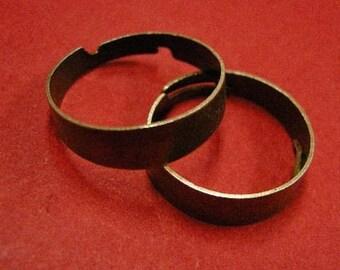 6pcs Antique Bronze Adjustable Ring Shanks