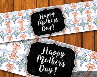 Mason Jar Printable Label / Boho Mason Jar Printable /Mothers Day / Bohemian / Mason Jar / Instant Download / Digital Download