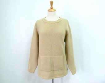 Cashmere Sweater Handknit Lands'end Large