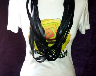 Innertube Necklace-Multiwire necklace in Bicycle air chamber