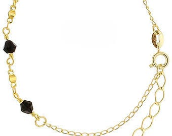 Gold Bracelet with Black Accents
