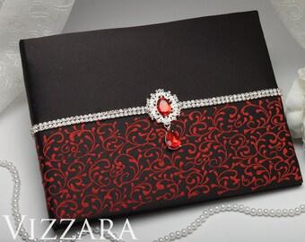Wedding guest books Black wedding Guest book Red and black wedding ideas Elegant wedding guest books Black themed weddings