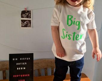 Big Sister Shirt-Big Sister shirts-Big sister outfit-Big Sister gift-Sister gift-Big Sister Outfit-Pregnancy Reveal-Big Sister