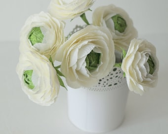 FREE Shipping-Paper flower-Ranunculus for wedding bouquet,anniversary gifts