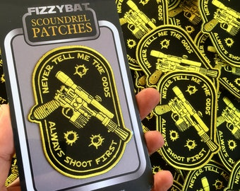 PRE ORDER - Star Wars Patch, Han Solo Embroidery, Sew on Badge Gift, Rebel Scum, Darth Vader, Geek, Stormtrooper, Gifts for Boys