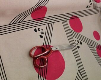 Japanese Kokka Fabric- Pandas by Ellen Baker, Pink