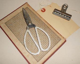 Vintage Art Deco Scissors, Vintage Office Scissors, Farmhouse Scissors