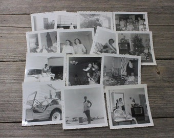 All in the family! Black & white photographs from the late 1950s and early 60s, set of 13 photos. Photograph, art, portrait, black and white