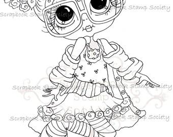 INSTANT DOWNLOAD Digital Digi Stamps Big Eye Big Head Dolls Messy Bessy IMG798 My Besties By Sherri Baldy