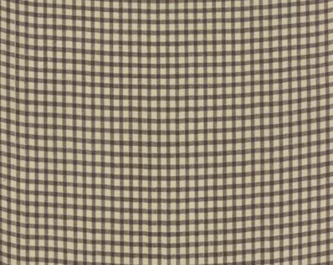 Petite Woven Silky Cotton Check Brown - 1/2yd