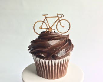 12 Wood Road Bicycle Cupcake Toppers
