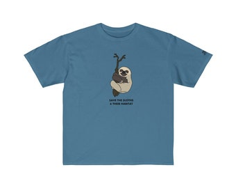 Kids Retail Fit Tee  Animals Sloth Colored Print