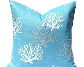 15% Off Sale Blue Pillow, Beach Decor, Beach Pillows, Decorative Pillow Cover, Pillow Covers, Pillows, Accent Pillows, Toss Pillows, Blue Cu