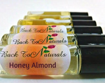 Honey Almond Fragrance Oil -  Perfume Roll on bottle - Fragrance for Her - Best Seller Perfume