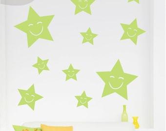 Happy Stars - Vinyl Wall Decal