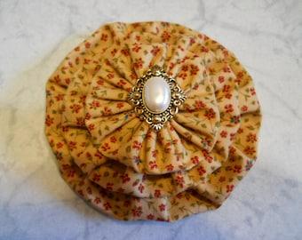 Fabric Flower Pin, Fabric Brooch, Fabric Flower Hair Clip, Purse Decoration, Curtain Decor, Fabric Flower Gift, Birthday Gift, Fabric Gift
