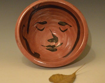 Big Red Buddha Serving Bowl in Raku Ceramics