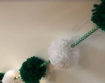 6 ft St. Patrick's Day Pom Pom Garland