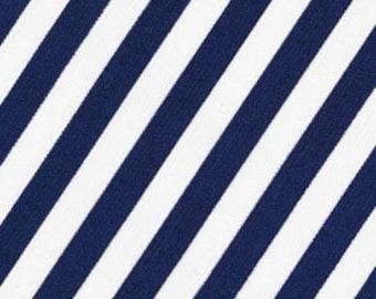Robert Kaufman Navy Stripe