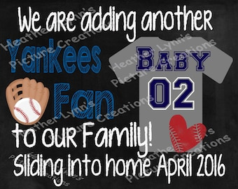Pregnancy Announcement, Baseball Pregnancy Announcement