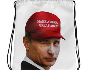 Make America Great Again Putin?! Drawstring bag