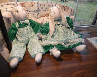 St Paddy's Day Stuffed Bunnies..