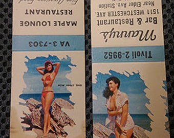Vintage Betty Page Matchbooks Pinup