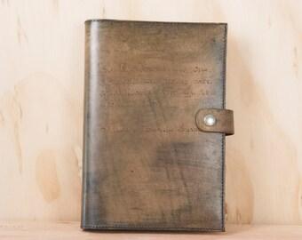 Journal en cuir personnalisé - fait à la main dans le modèle Smokey avec inscription personnalisée - Antique Brown