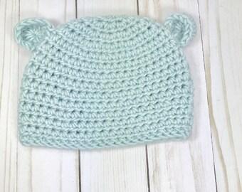 Crochet baby hat, baby boy hat, crochet hat, baby beanie, baby bear hat, baby beanie, baby hat