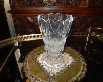 ST. GEORGE CRYSTAL Candle Holder and Base