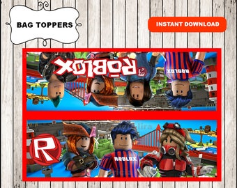 Roblox bags toppers instant download , Roblox toppers, Printable Roblox Treat bags, Roblox Treat Tags