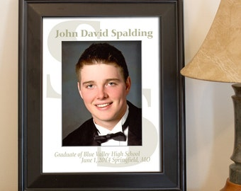 Custom Photo Mat personalized for Graduate (drab olive green color)