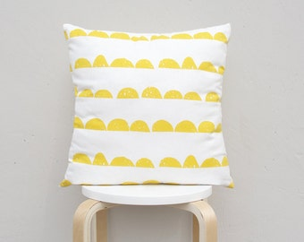 Half Moon pillow cover , Geometric Pillow Case, Kids Pillows Case,Yellow Pillow Case 01