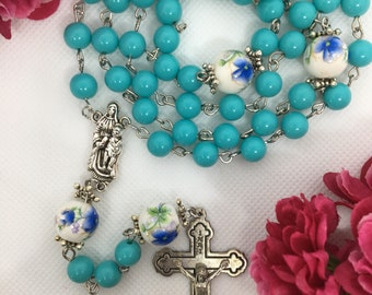Rosary with turqoise beads