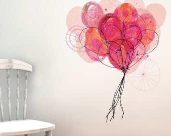 Carnival Balloons Removable Wall Sticker