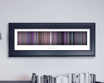Inside Out // Movie Poster // Movie Barcode // Pixar Print // Wall Decor // Panoramic