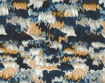 Art Gallery fabric- fringe midnight cotton -cotton fabric -art gallery cotton -fringe midnight fabric -art gallery quilting cotton, quilting
