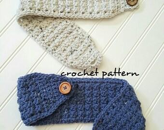 Crochet Headband Pattern, Easy crochet pattern, winter head warmer pattern, headband pattern, wool headband, crochet pattern