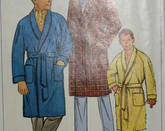 Simplicity 6756 Men's Bathrobe Sewing Pattern New / Uncut Size Small 34-36