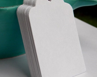 250 white paper tags  - gift tags - wedding tags - merchandise  tags - favor tags - hang tags -